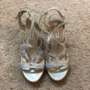 Silver sequined Nina New York heels